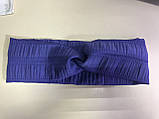 Женская повязка из жатки ширина 8.7 см  цвет фиолетовый, фото 2