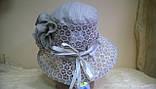 Кружевная детская льняная шляпка, фото 3