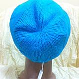 Молодежная шапка вязанная объёмным рисунком одинарная, фото 4