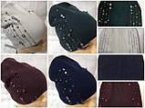 Женская шапочка украшенная крупными камням спереди и мелкими сзади, фото 10
