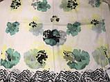 Женский шарф палантин цветочный принт, фото 2