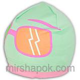 Шапочка хлопковая  украшена рисунком очков, фото 3