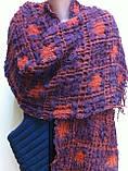 Объёмный широкий шарф воздушного плетения, фото 3