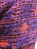Объёмный широкий шарф воздушного плетения, фото 4