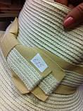 Молочная шляпа с бежевой лентой и бантом, фото 2