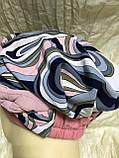 Летняя  бандана-шапка-косынка-тюрбан в розовых оттенках с объёмной жгутом, фото 5
