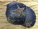 Бейсболка дитяча камені 44-46 блакитний джинс від 1-4 років, фото 4