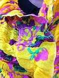 Шарф палантин з яскравим забарвленням з бавовни можна використовувати як парео жатка на резинці бавовна, фото 2