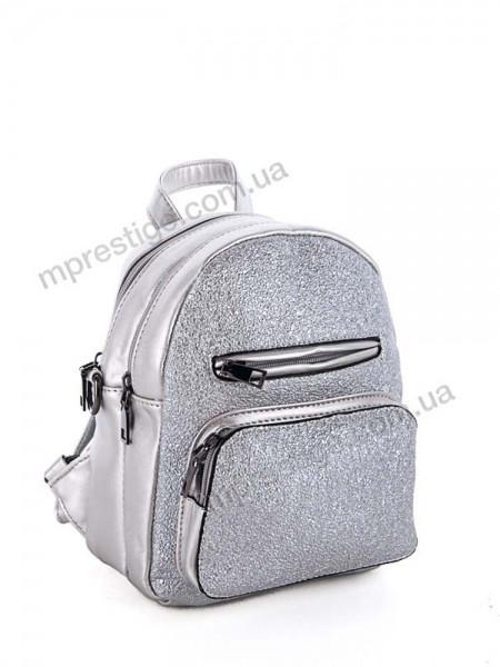 Женский рюкзак   23 х 19 см цвет серебристый