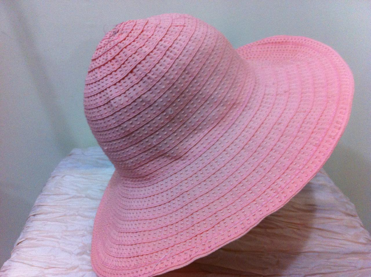 Шляпа из текстилльной ленты  персикового цвета