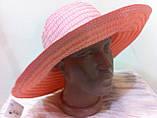 Шляпа из текстилльной ленты  персикового цвета, фото 3