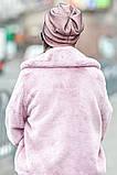 Розовая шапочка бини с сеточкой и россыпью камней, фото 4