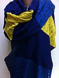 Красивый шерстяной шарф ажурной вязки, фото 2