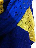 Красивый шерстяной шарф ажурной вязки, фото 3
