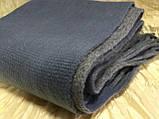 Объёмный двухсторонний очень тёплый шарф серо-голубой с серым, фото 3