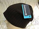 Коричневая шапка с фиксированным наклоном назад, фото 3