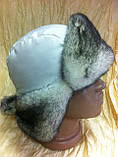 Стильная шапка - ушанка для девочек цвет белый, фото 2