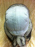 Стильная шапка - ушанка для девочек цвет белый, фото 3