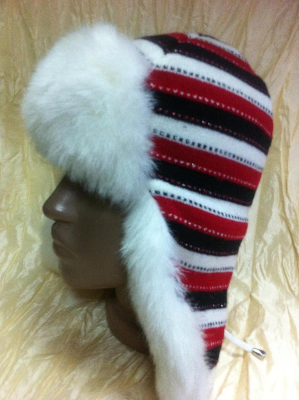 Шапка - ушанка для девочек размер 51-52 с доп. ушками