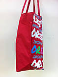 Большая пляжная красня сумка, фото 3