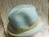 Шляпа летняя мужская с лентой и завернутыми сзади полями, фото 2