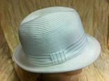 Шляпа летняя мужская с лентой и завернутыми сзади полями, фото 3