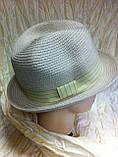 Шляпа летняя мужская с лентой и завернутыми сзади полями, фото 4