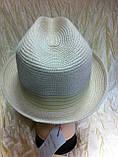 Шляпа летняя мужская с лентой и завернутыми сзади полями, фото 5