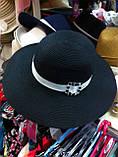 Женская шляпа  для лета цвет черный, фото 2