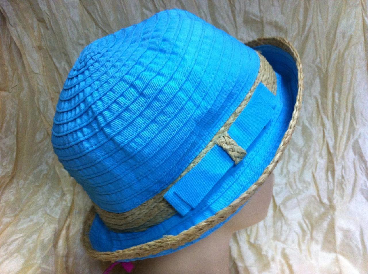 Річна жіноча капелюх колір бірюза і персикова
