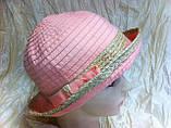 Річна жіноча капелюх колір бірюза і персикова, фото 3
