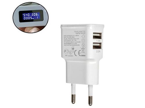 USB сетевое зарядное устройство 2xUSB, 5В 2А