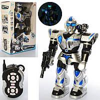"""Робот на пульте управления """"PLAY SMART"""" 9897, 47 см, звук, светится, ходит, танцует, стреляет"""