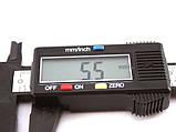 Штангенциркуль цифровой электронный 150мм 0.1 мм в футляре, пластик, фото 2