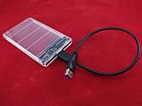 Зовнішній 2.5 USB 3.0 SATA Кишеню жорсткого диска, прозорий, фото 3