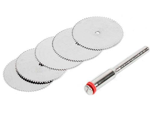 Набор из 5 отрезных кругов, дисковых пил 32мм для дремеля гравера