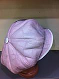 Женская зимняя кепка из искусственного дубляжа цвет розовый, фото 2