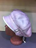 Женская зимняя кепка из искусственного дубляжа цвет розовый, фото 3