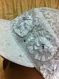 Косинка біла з батисту з козирком 55-56 см, фото 2