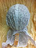 Косынка белая из батиста с козырьком 55-57 см, фото 4