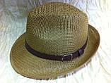 Шляпа летняя мужская молочная с завернутыми сзади полями, фото 2
