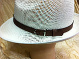 Шляпа летняя мужская молочная с завернутыми сзади полями, фото 4