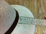 Шляпа летняя мужская молочная с завернутыми сзади полями, фото 5