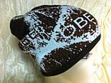 Мужская шапка двухсторонняя  цвет коричневый, фото 4