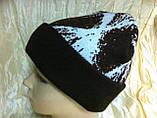 Мужская шапка двухсторонняя  цвет коричневый, фото 5