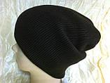 Мужская шапка двухсторонняя  цвет коричневый, фото 6
