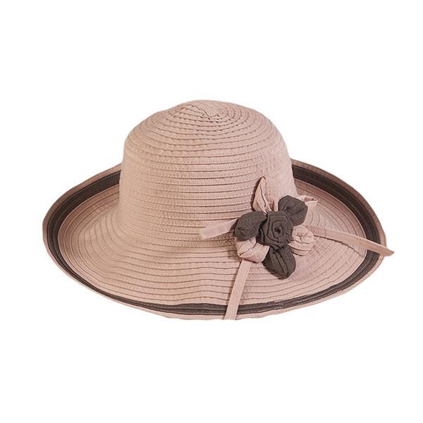 Шляпа летняя женская  цвет пудра