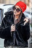 Молодежная шапочка на флисе с украшением цвет пудра, фото 4