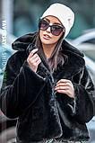 Молодежная шапочка на флисе с украшением цвет пудра, фото 7