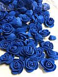 Розы из латекса, фиолетовый с фатином (ФОМ, FOAM) 500 шт пачка (для мишек), фото 4